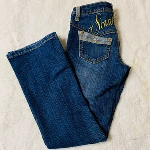 Southpole Jeans Junior Size 7 Blue with bling